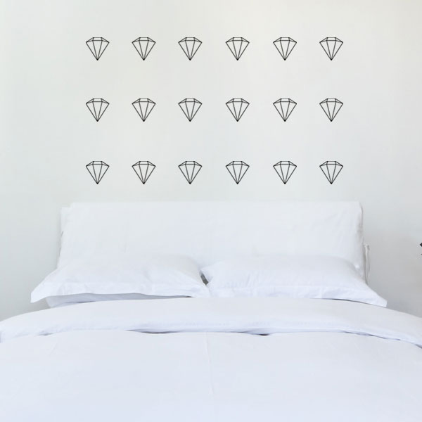 Diamonds wall decal
