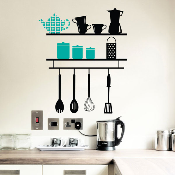 Kitchen Shelves Wall Decal