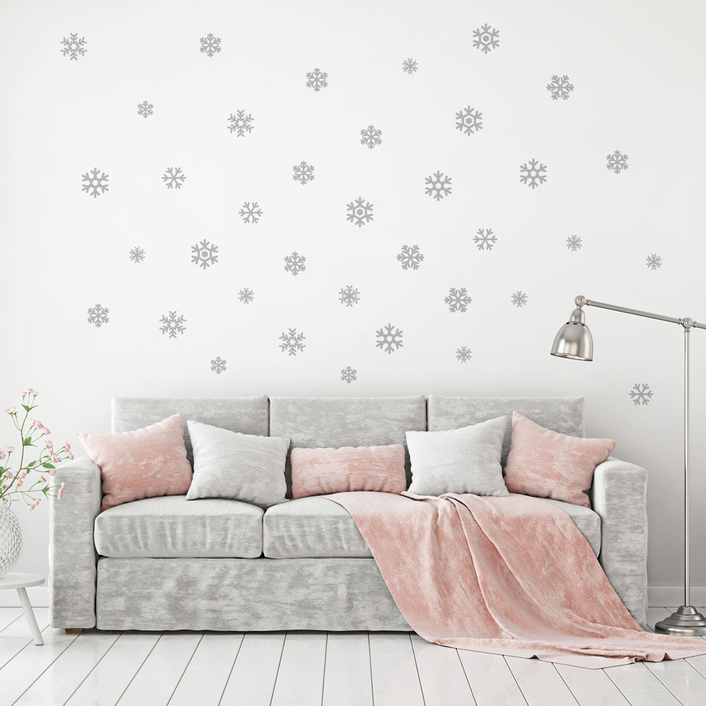 Mini Snowflakes Wall Decal