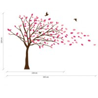 Blowing Tree Wall Decal Size