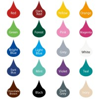 Funky Bubbles Wall Decal Colour Chart