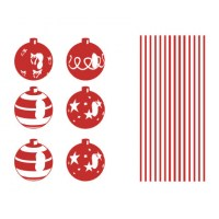 Christmas Balls Wall Decal Sheet