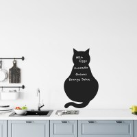 Reusable Chalkboard Cat Wall Decal