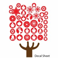 Baubles Christmas Tree Decal Sheet