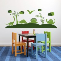 Dinosaurs Wall Decal Green
