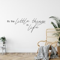 It's the Little Things in Life Wall Decal
