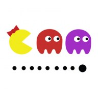 Ms Pacman, Blinky and Pinky Wall Decal