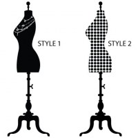 Mannequin Wall Decal Styles
