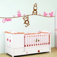 Nursery Animals Wall Decal Pink