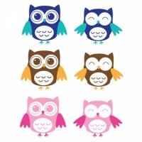 Owls Wall Decal colours