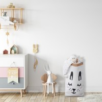 Paper Toy Storage Bag with Bunny Design