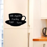 Reusable Chalkboard Teacup Wall Fridge Decal