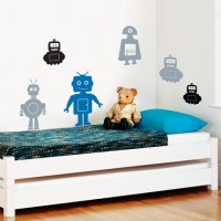Robot Set Wall Decal