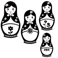 Russian Dolls Wall Decal