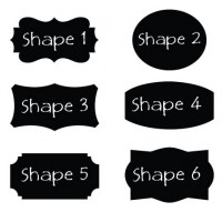 Reusable Chalkboard Labels shapes