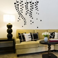 Wisteria Black Wall Decal
