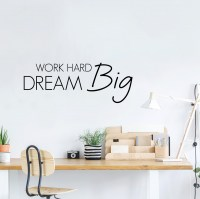 Work Hard Dream Big Wall Decal