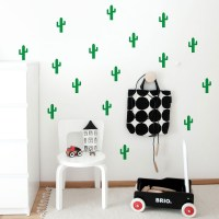 Cactus pattern wall decal