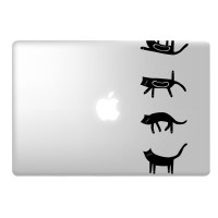 Cats laptop decal