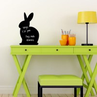 Reusable Chalkboard Bunny Wall Decal