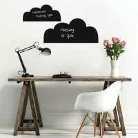 Reusable Chalkboard Clouds Wall Decal