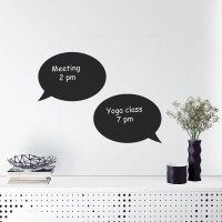 Reusable Chalkboard Speech Bubble Wall Fridge Decal