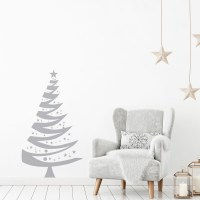 Christmas Tree Wall Decal in Grey