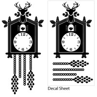 Cuckoo Clock Decal Layout