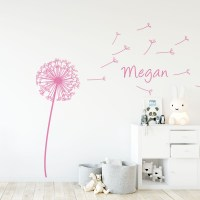 Dandelion Wall Decal in Pink