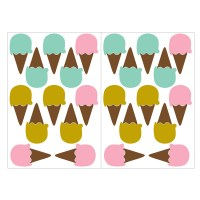 Ice Creams Wall Decal Sheets