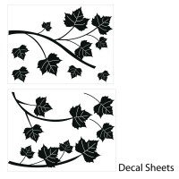 Maple Branch Wall Decal Sheets