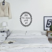Oh the Places you'll go! Wall Decal in Black