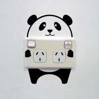 Panda wall sticker for power sockets