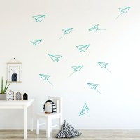 Paper Planes Wall Decal - Teal
