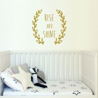 Rise and Shine Wreath Wall Decal