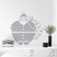 Santa Wall Decal Grey