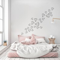 Scattered Diamonds Wall Decals