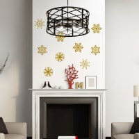 Snowflakes wall decal gold