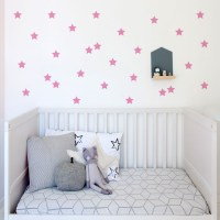 Kids Stars Wall Decal Pink
