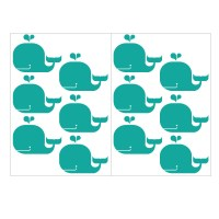 Whales pattern sheets
