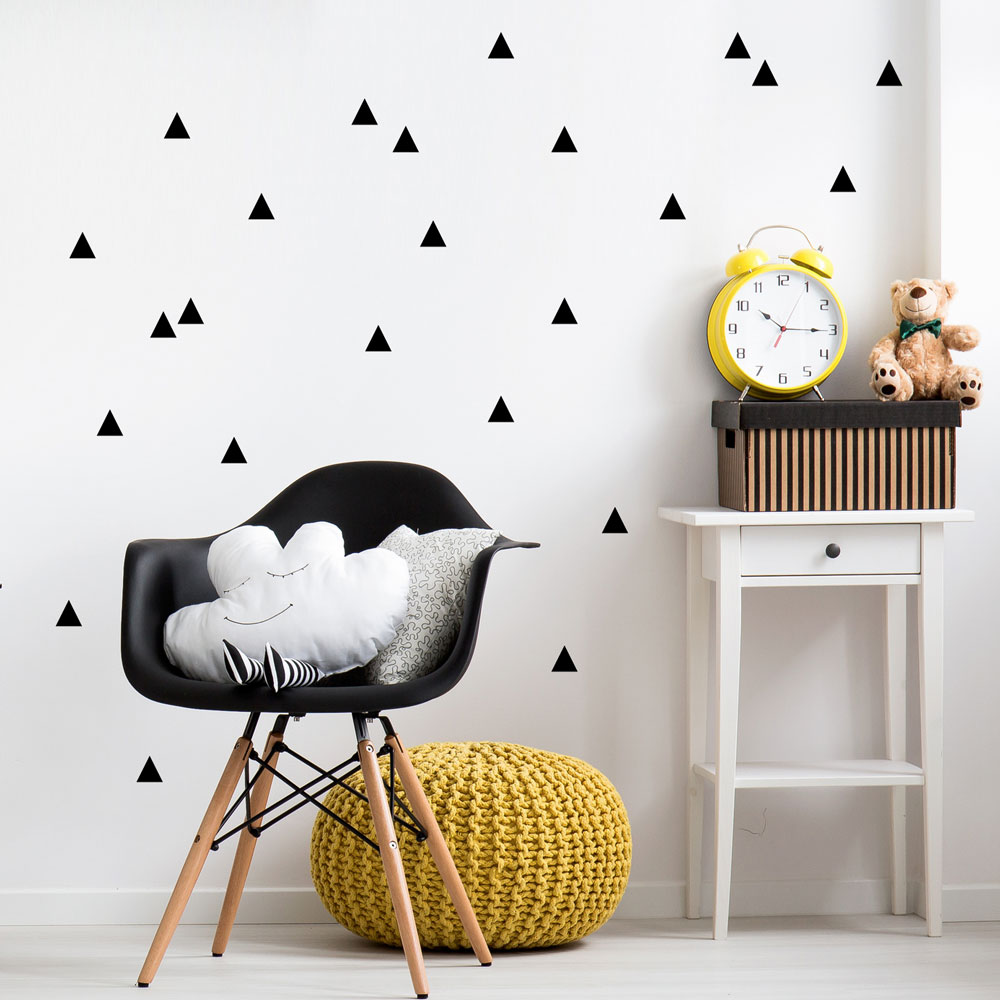 Small Triangles Pattern Wall Decal Set