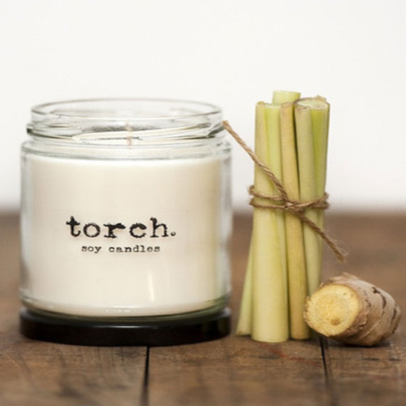 Torch soy candles